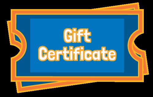 Gift Certificate | Adventure Landing Family Entertainment Center | Jacksonville, FL