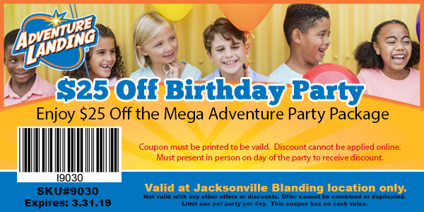Coupons Adventure Landing Family Entertainment Center